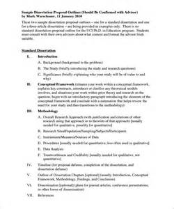Dissertation Essay by Outline Phd Thesis