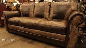 el dorado 100 cut top grain leather sofa made in usa