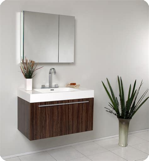 Modern Small Bathroom Vanities by Fresca Vista Walnut Modern Bathroom Vanity