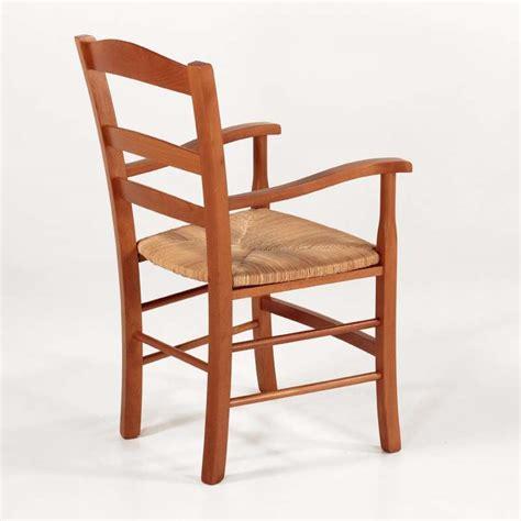 fauteuil bois fauteuil en bois rustique et paille broc 233 liande 4 pieds tables chaises et tabourets