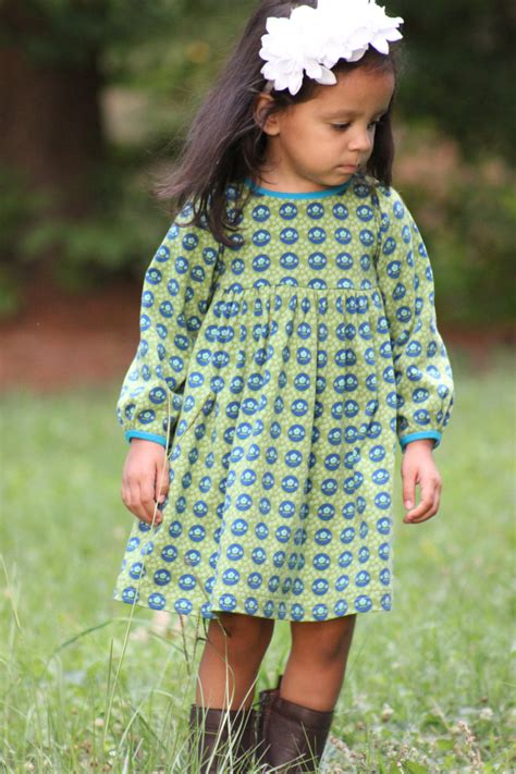 dress pattern with sleeves snapdragon dress pdf pattern for knits girls knit dress
