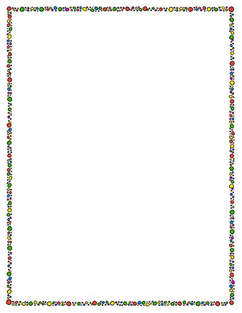 page border template circles tim s printables