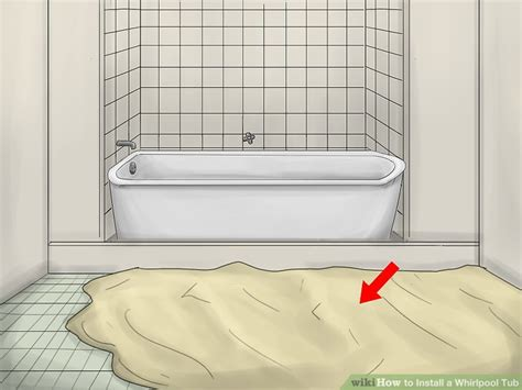 how to put in a bathtub how to install a whirlpool tub with pictures wikihow