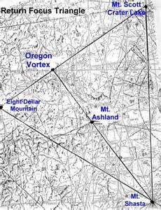 map of oregon laylines ley lines and vortices of the