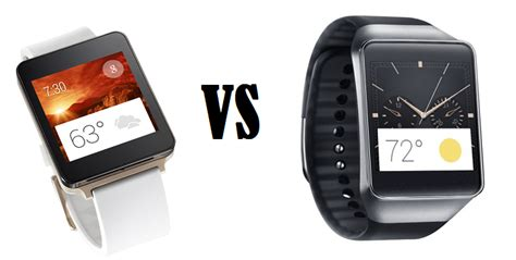 android smartwatch comparison what s the difference samsung gear live vs lg g