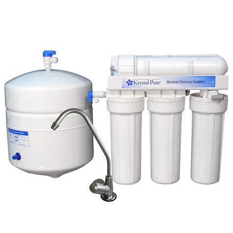 reverse osmosis under sink system shop krystal pure under sink complete filtration system