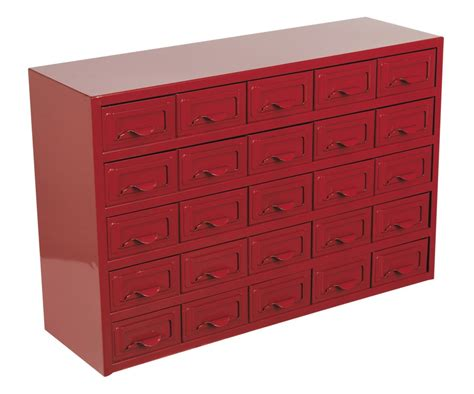 Metal Storage Drawers Cabinets by Sealey Metal Parts Storage Cabinet Box 25 Drawer Apdc25 Ebay