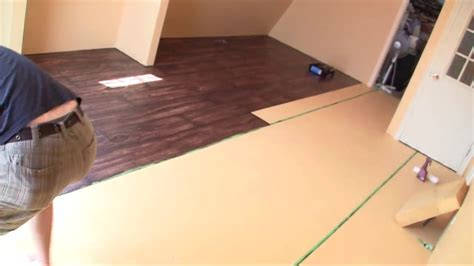 How To Make Concrete Floors Look Like Wood by Time Lapse Painting Quot Faux Wood Floors Quot
