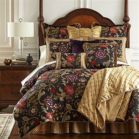 austin horn bedding horn classics escapade reversible comforter set in black bed bath beyond