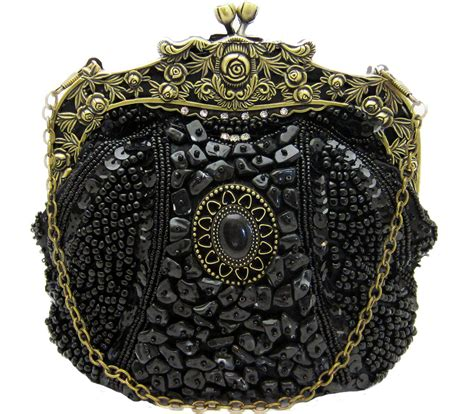 beaded purses vintage beaded black handbag evening bag purse swarovski