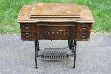 White Treadle Sewing Machine Cabinet by Antique White Treadle Sewing Machine Cabinet 1887 Ebay