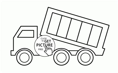 dump truck coloring page preschool simple dump truck coloring page for toddlers