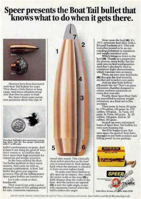 what is a boat tail bullet speer presents the boat tail bullet 1981 ammo
