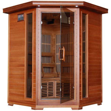 bathroom fan model 7550 radiant sauna 3 person cedar corner infrared sauna with 7