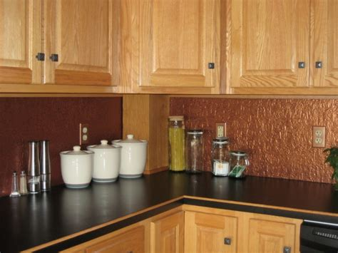 faux tin backsplash kitchen with bead board blue
