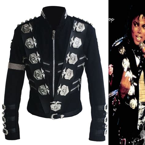 1550 Mj Denim Dress 1 aliexpress buy mj michael jackson bad black classic jacket with silver eagle badges