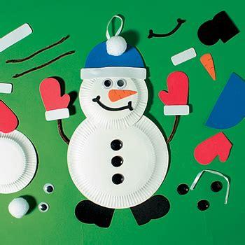 Snowman Paper Plate Craft - snowman paper plate craft kit x 12 mct 5900 163 10 74