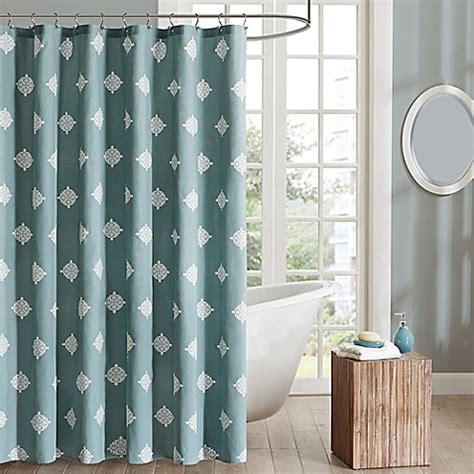 ivy shower curtain ink ivy shelby shower curtain bed bath beyond
