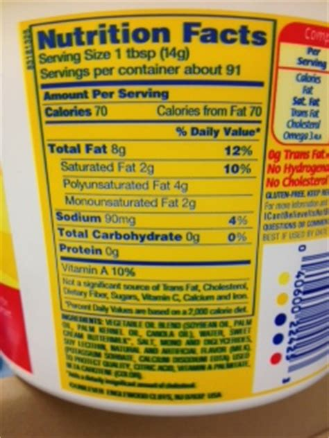 i cant believe its not butter light nutrition facts nutrition4life butter margarine or i can t believe it s