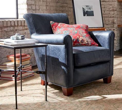 irving leather armchair irving leather armchair pottery barn