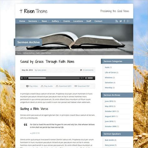 10 beautiful templates for religious websites
