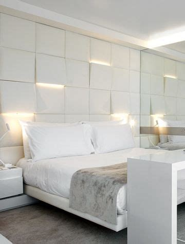 Bedroom Lighting Solutions Lighting Uplights And Downlights Integrated Into Sculpture Squares Headboard Bedroom Wall