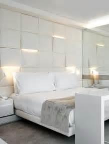 Bedroom Lighting Solutions Lighting Uplights And Downlights Integrated Into Sculpture Squares Headboard Bedroom Wall
