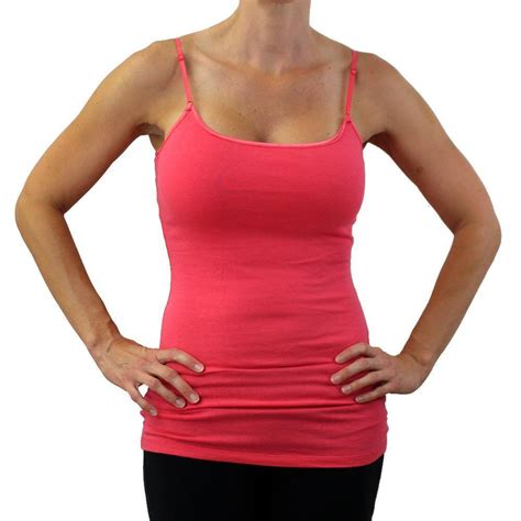 What Is A Shelf Cami by S Coral Camisole Tank Top Shirt With Built In