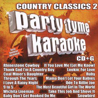 fetish party tyme karaokenet sybersound tyme karaoke country classics volume 2 cd 2005 sybersound records