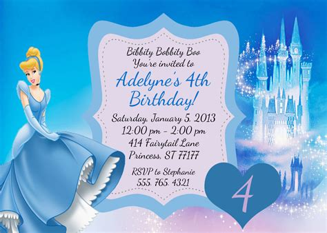 cinderella invitation to the template cinderella birthday invitation by partypassiondesign on etsy
