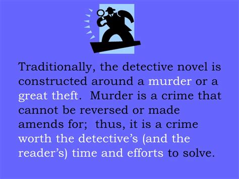 a great novel is a elements of a detective story