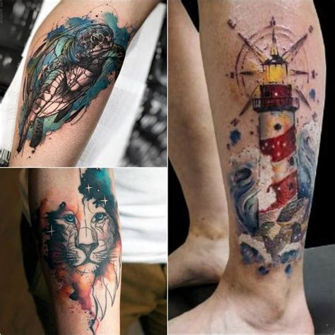 water color tattoos for men watercolor designs watercolor technique