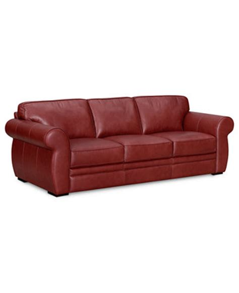 leather sofa macys carmine leather sofa furniture macy s