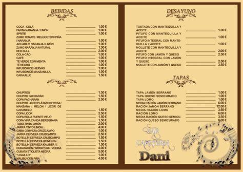carta de un restaurante cartas para restaurantes data designs pro