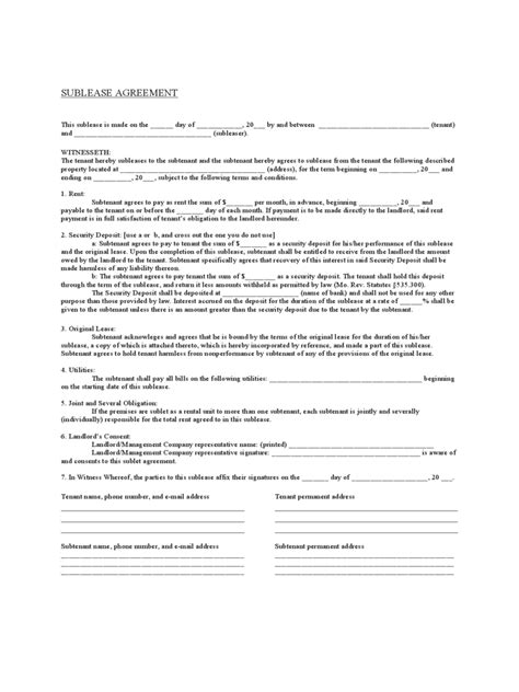 Missouri Rent And Lease Template Free Templates In Pdf Word Excel To Print Missouri Lease Agreement Template