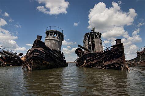staten island boat graveyard twins photo of the abandoned staten island boat graveyard