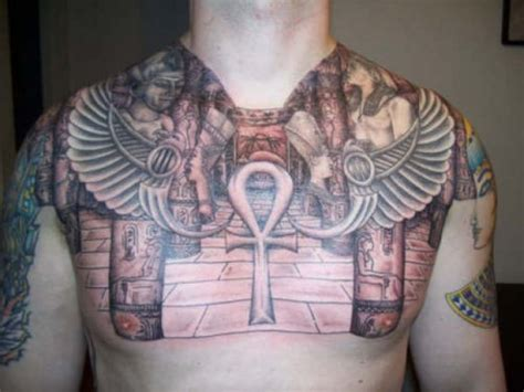 egyptian tattoo on chest mystical egyptian tattoos