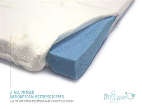 Non Memory Foam Mattress Topper Milliard 2 Gel Infused Memory Foam Mattress Topper Ultra Soft Removable Bamboo Cover With Non