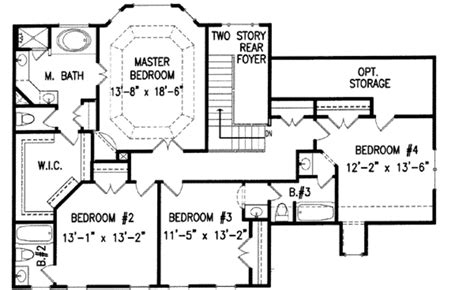 Colonial Style House Plan 4 Beds 3 5 Baths 2936 Sq Ft 54 Sqm House Plans