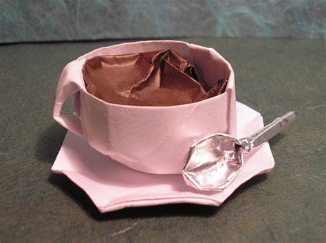 How To Make Paper With Coffee - the origami forum view topic origami tea cup