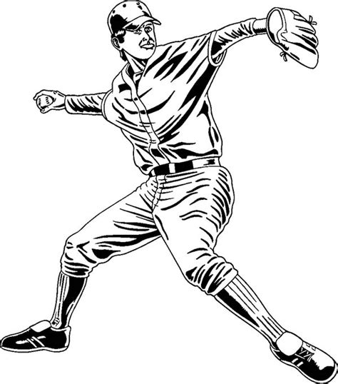 professional baseball player coloring page