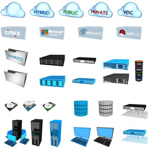 server stencils visio server virtualization virtualization team