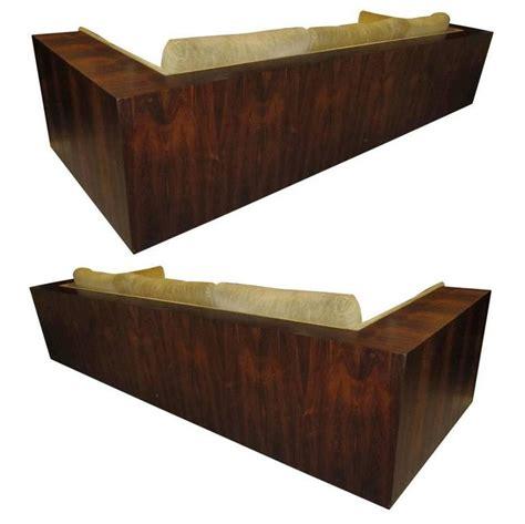 milo baughman rosewood case sofa amazing pair brazilian rosewood milo baughman thayer