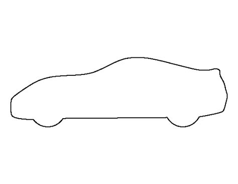 sports car pattern use the printable outline for crafts