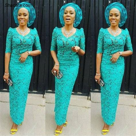 styles of purple cordlace aso ebi styles with cord lace