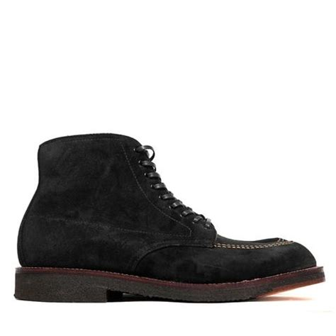 alden black suede indy boot with crepe sole lost found