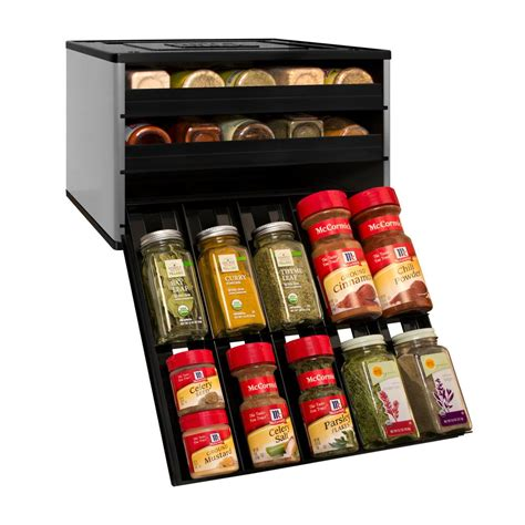 Kitchen Cabinet Storage Options youcopia chef s edition spicestack 30 bottle spice