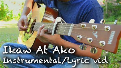 guitar tutorial ikaw at ako ikaw at ako tj monterde guitar cover lyric video 3