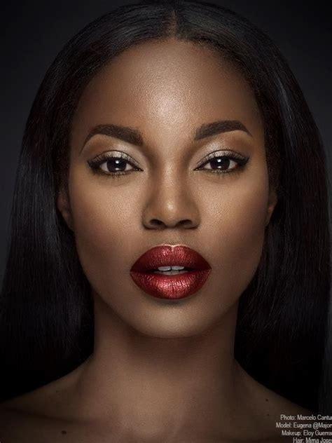 dark red lipstick for black women 94 best images about makeup for dark skin on pinterest