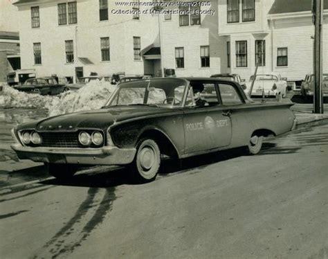 Portland Maine Arrest Records Maine Memory Network New Cruiser South Portland 1960